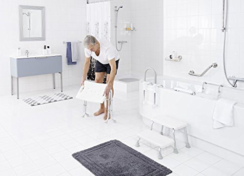 Ridder a sgabello pieghevole da bagno colore bianco
