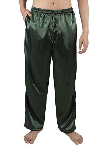 SUPERIOR NATURALS Herren Schwarz lang Kimono-Pyjama 100/% Seide S