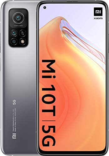 """Oferta de Xiaomi Mi 10T 5G (Pantalla 6.67"""" Fhd+ Dotdisplay, 6Gb+128Gb, Cámara de 64Mp, Snapdragon 865 5G, 5.000Mah carga 33W) Plata Lunar"""