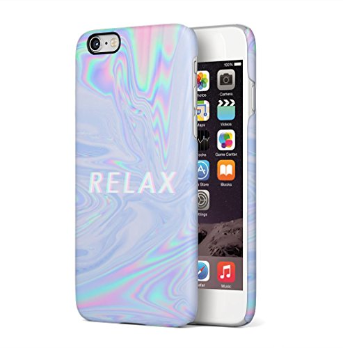 Trippy Tie Dye Rainbow Acid Relax Apple iPhone 6 / iPhone 6S SnapOn Hard Plastic Phone Protective Fall Handyhülle Case Cover (Rainbow Screen Print)
