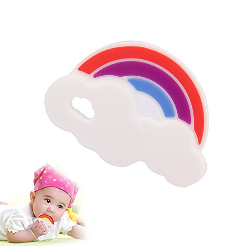 Kaigeli888 Baby Silikon Regenbogen Food-Grade Baby Teether Spielzeug BPA-frei