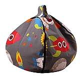 FOONEE Bean Bag Stuffed Animal Storage, Canvas Kids Toys Bolsas de Cremallera de Almacenamiento, Bean Bag Soft Pouch para Juguetes, Mantas, Fundas, Toallas, Ropa