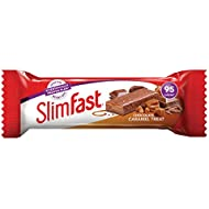 SlimFast Chocolate Caramel Snack Bar, 26 g - Box of 24