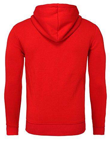 Akito Tanaka Herren Sweatjacke Jacke Weste Zip Pullover Hoodies Sweatshirt mit Kapuze Rot