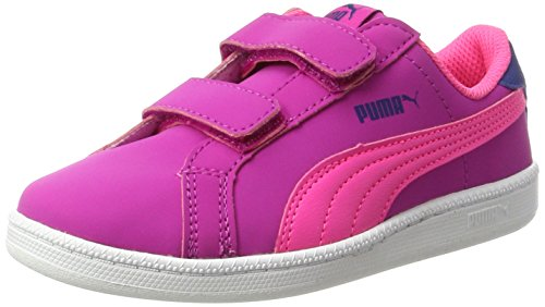 Puma Unisex-Kinder Smash Fun Buck V PS Low-Top, Pink (Ultra Magenta-Knockout Pink 09), 35 EU (Buck Jungen Schuhe)