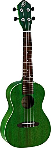 Ortega Gitarren ruforest Earth Series Concert Ukulele, Okoume Top & Body, transparent Forest grün 58 Us 4 Satin