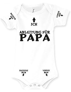 Baby Body Strampler Anleitung für Papa Geburt Geschenk