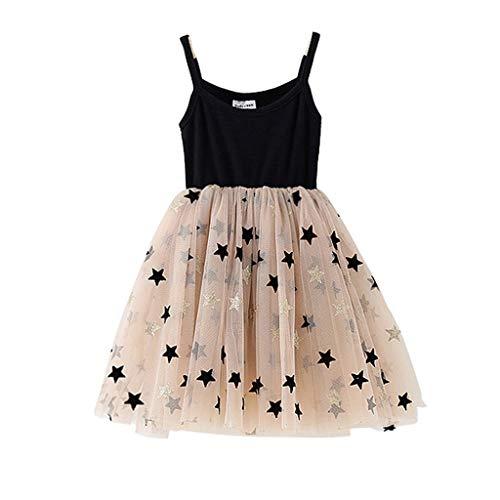 en Sommer äRmelloses SpleißEn Sterne Net Rock Kleid   Kleinkind Scherzt Babykleid   Prinzessin Party TüLl Elegantes Kleid ()