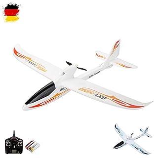 3-Kanal 2.4GHz RC ferngesteuertes Segelflugzeug, optional erweiterbar mit Kamera, Modellbau Glider, Spannweite von 750mm, Flieger-Modell mit EPO-Material, Komplett-Set inkl. Akku und Fernsteuerung