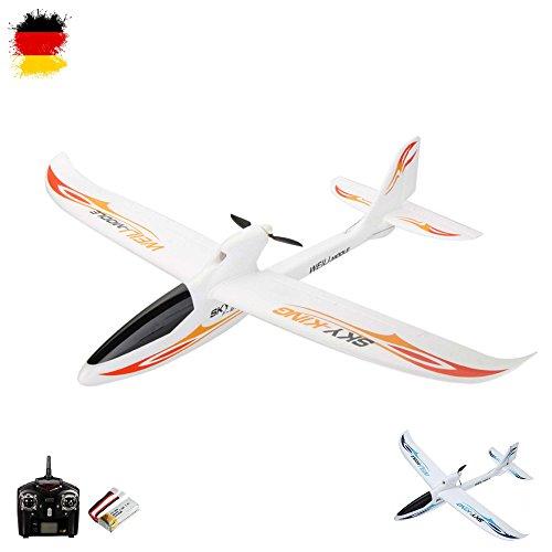 rngesteuertes Segelflugzeug, optional erweiterbar mit Kamera, Modellbau Glider, Spannweite von 750mm, Flieger-Modell mit EPO-Material, Komplett-Set inkl. Akku und Fernsteuerung ()