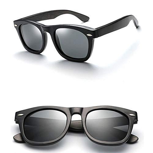 Polarisierte Bambus-Sonnenbrille, Einfach Und Großzügig, Angeln Im Freien, Fahren, Camping-Sonnenbrille, Sportbrille, UV400 (Color : A)