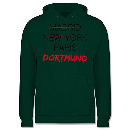 Städte - Weltstadt Dortmund - Männer Premium Kapuzenpullover / Hoodie Dunkelgrün
