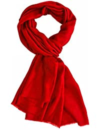 Passion Red Plain Pashmina Stole (KB3610)
