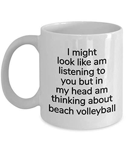 MIPOMALL WM2823 Beach Volleyball Geschenke für Sie oder Ihn, für Damen oder Herren, Geschenk für Volleyball-Spieler, Kaffeetasse für Weihnachten, Geburtstag, Geschenk für jeden Anlass