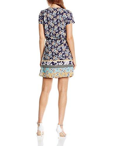 SIDECAR Damen Kleid, Kurzärmelig, Bedruckt Blau