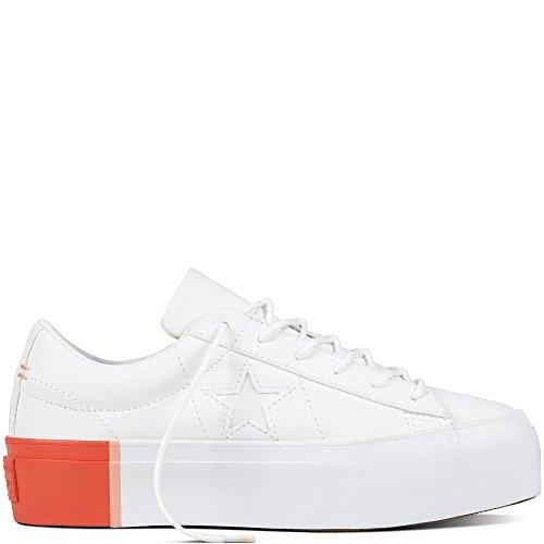 Converse Damen Cons One Star Platform OX Sneaker, Blau hellblau/weiß, 41.5 EU (Converse-plattform)
