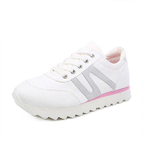 Dérapage de plate-forme au printemps et les sports d'été et les chaussures de loisirs/Étudiants, chaussures de jogging/Chaussures pour femmes de couleur unie B