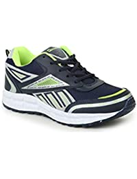 Granite Men's Navy Blue / Green Color Synthetic Leather Sports Shoe. ( Multi Purpose Shoes:- Running Shoes| Gym...