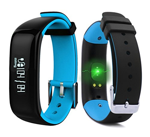 Dax-Hub P1 Bluetooth 4.0 IP67 Waterproof Smart Bracelet with Blood Pressure Sphygmomanometer, Oximeter, Heart Rate Monitor Health) Calorie Tracker Sport Pedometer Sleep Monitor; Wristband with Heart Rate Monitor; Phone call & Message Synchronization; Remo