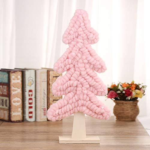 HAPPYLR decorationMini Weihnachtsbaum Tabellen Stellen EIN kleines Weihnachtsverzierungsverzierungen DIY Materialien, rosa bloßer Baum gegenüber - Adventskranz Kleiner Künstliche