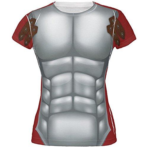 Halloween römischen Gladiator Kostüm alles über Juniors T Shirt Multi (Frauen Gladiator Kostüm)