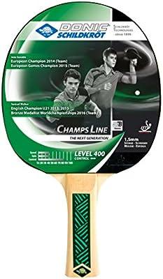 Schildkroet Funsports Donic Champs 400 Raqueta de Tenis de Mesa, Unisex Adulto, Multicolor, Talla Única