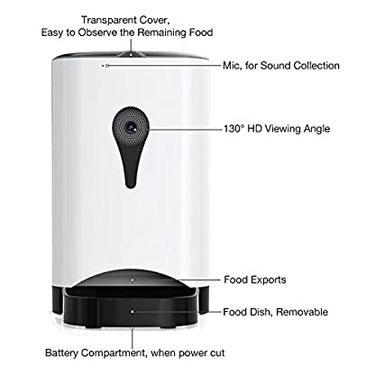 4.5 Litre Automatic Pet Cat Feeder Smart Food Dispenser HD Wifi Real Time Monitoring Dogs by Mobile App 3