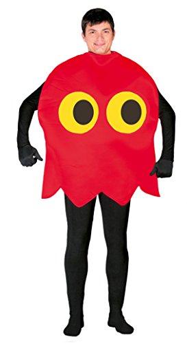 Kostüm Kinder Pacman - rotes Gespenst - Kostüm für Erwachsene Gr. M/L, Größe:L