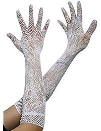 Sexy Damen Stretch Spitze Lange Handschuhe Hochzeit Party