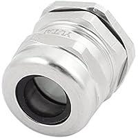 sourcingmap M22x1,5 mm Junta prensaestopas impermeable Metal Conector para cable 10-14 10 mm de diámetro