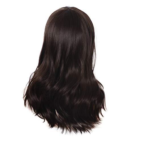 chwarz Langhaarperücke Langhaarperücke aus Kunsthaar Langes Weich Flauschig gewelltes Haar Perücken für Cosplay Party Perücken ()