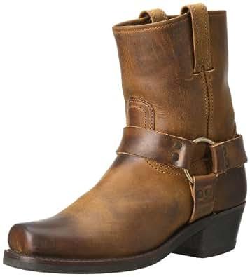 FRYE Women's Harness 8R Boot, Dark Brown, 5.5 M US