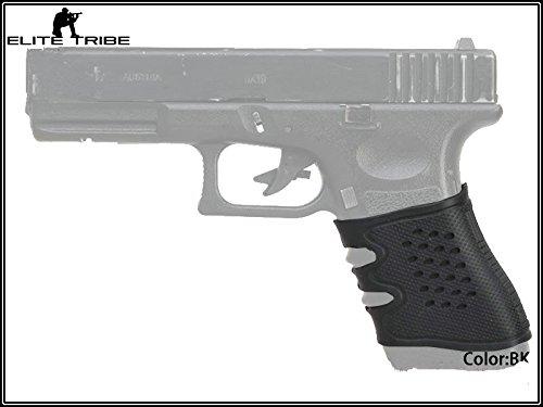 Universal Handwaffe Pistolengriff Gummi Pistole Griff (Schwarz) (25 Pistolengriff)