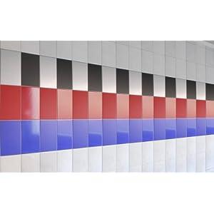 Fliesenaufkleber - 20 x 15 cm - 300 Stk. + 1 Profi-Spezialrakel je Lieferung - viele Farben zur Wahl - von Luminess - Made in Germany