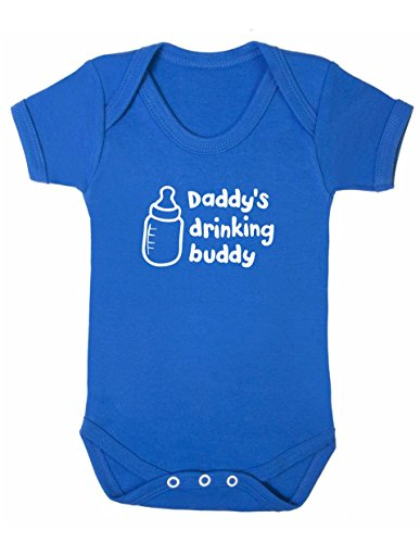 Art Hustle Daddy 's Drinking Buddy Baby Boy Mädchen Unisex Short Sleeve Bodysuit (blau, 3–6m)