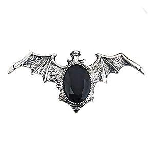 WIDMANN?Anillo murciélago gótico con Gemma, Negro Unisex-Adult, talla única, vd-wdm7130N