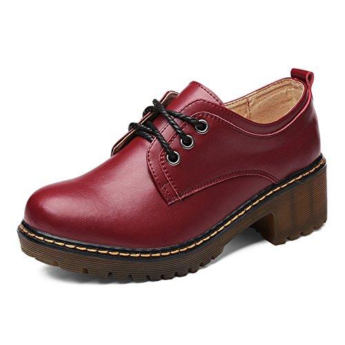 Vent d'Angleterre chaussures femme/Chaussures de l'automne/chunky talons chaussures chaussures Martin/Fin épais de femme vent College B