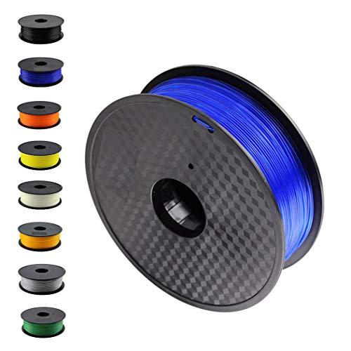 DruckerRhino 3D Druck PLA Filament 1,75 mm 1kg Rolle für 3D Drucker oder Stift in Vakuumverpackung Blau -