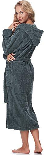 Merry Style Damen Bademantel mit Kapuze 5L1 Graphite