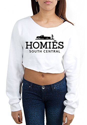 Homies - Sweat crop top femme Blanc