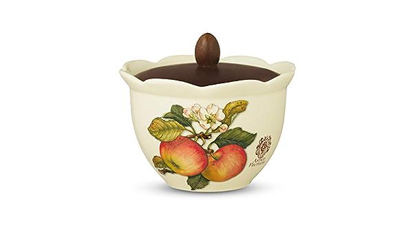 Biscottiera in ceramica c//coperchio in legno collezione Frutti di Bosco Nuova Cer