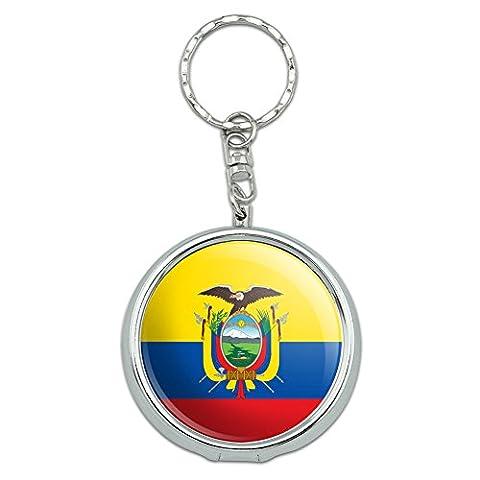 Portable Travel Size Pocket Purse Ashtray Keychain Country National Flag C-F - Ecuador National Country Flag