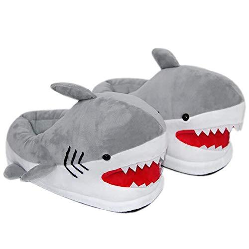 (SHANGXIAN Plüsch Innen Hausschuhe Für Frauen Erwachsene Herbst Winter Zuhause Hausschuhe Großer weißer Hai Bequeme Schuhe,36~43(285mm))