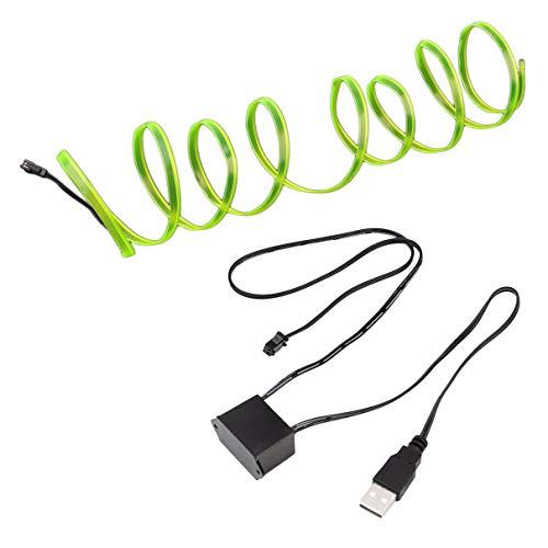 LED EL Licht Neon Seil Auto Tanz Glow Light Strip + 3V / 12V Controller USB Antrieb Auto Dekoration Licht Car Styling Partei Dekor