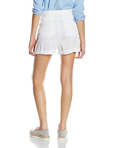 Tommy Jeans Damen Short Extreme Highwaist Plt Shortchatw Gd Weiß (CLASSIC WHITE 100)