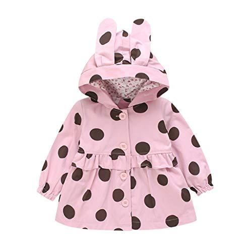 KINGWani ❤ Kleinkind Baby Winter Dot Print winddichten Mantel 0-24 Monate Mädchen Kapuzewarm Outwear Jacke, für Kleinkind Kind langärmelige Kleidung Anzüge