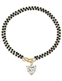 YouBella Designer Hand Bracelet Bangle Style Mangalsutra for Women