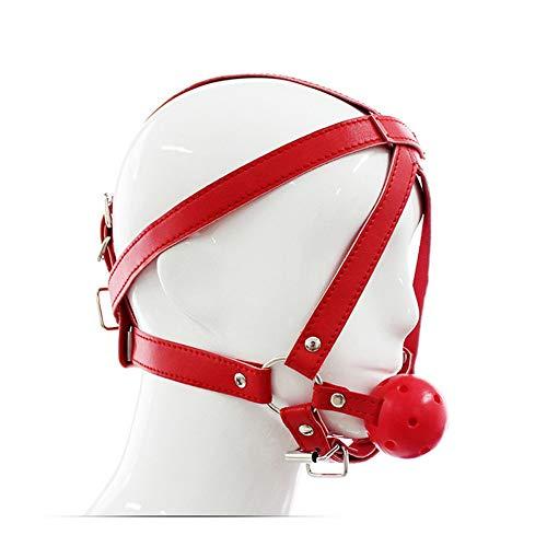 Sangni Erwachsener liefert den Pferdemund, der das Geschlecht füllt, spielt den Mundball, der die Versorgungen der Zurückhaltung flirtet, rot (Zurückhaltung Maske Halloween)