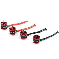 Sylvialuca 4 UNIDS Happymodel SE0603 KV16000 CW / CCW Motor sin escobillas 1S 0.8mm Eje para Micro RC Racing Drone Muitcopter FPV Helicopter - Rojo