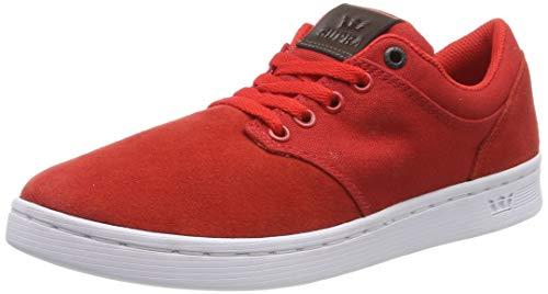 Supra Chino Court, Zapatillas Unisex Adulto, Rojo (Risk Red/Demitasse-White 687), 44 EU